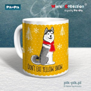 Kubek Husky Yellow snow