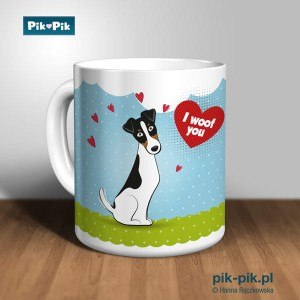 Kubek smooth fox terrier I Woof You