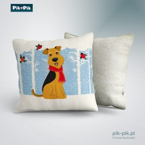 Poduszka Welsh Terrier Winter Collection