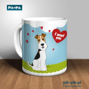 Kubek wire fox terrier I Woof You