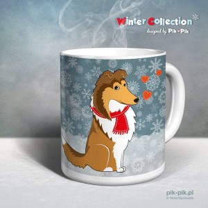 Kubek Owczarek Szkocki Collie Winter Collection