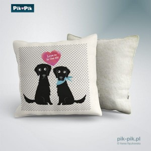 Poduszka Flat Coated Retriever Love Collection