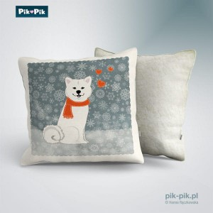 Poduszka Akita Inu Winter Collection