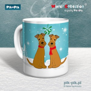 Kubek IrishTerrier Winter Time