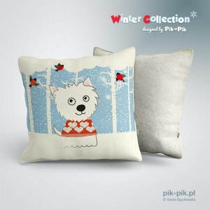 Poduszka West Highland White Terrier-Winter collection (1)