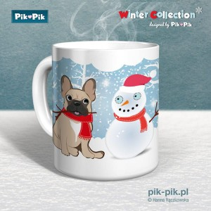 Kubek French Bulldog Winter Collection