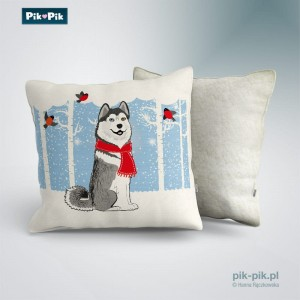 Poduszka Husky Winter Collection