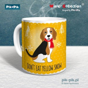 Kubek Beagle Yellow snow