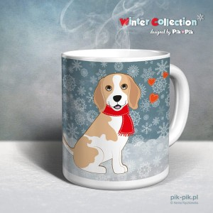 Kubek Beagle Winter Collection