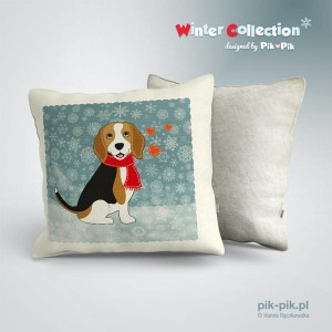 Poduszka Beagle Winter Collection