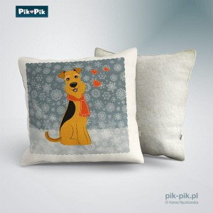 Poduszka Airedale Terrier - winter collection