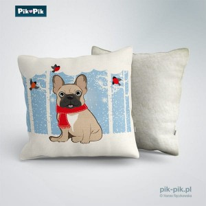 Poduszka French Bulldog Winter Collection