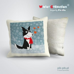 Poduszka Border Collie - winter collection