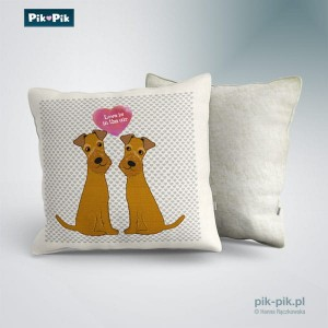 Poduszka Irish Terrier Love Collection
