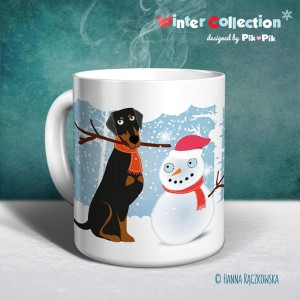 Kubek  Doberman- Winter Collection