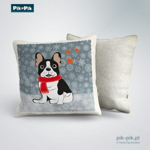 Poduszka French Bulldog Winter Collection (1)