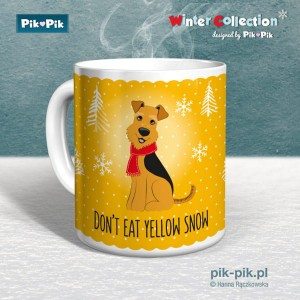 Kubek Welsh Terrier Yellow Snow