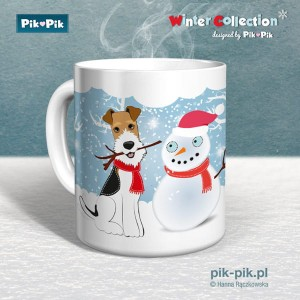 Poduszka Wire Fox Terrier-Winter Collection