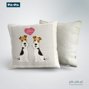 Poduszka Wire Fox Terrier-Love Collection