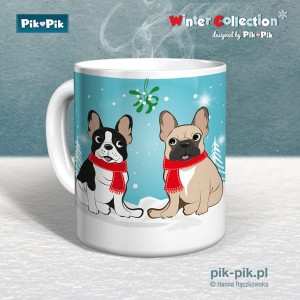 Kubek French Bulldog Winter Time