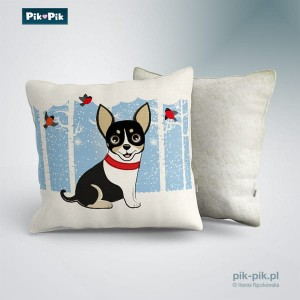 Poduszka chihuahua Winter Collection