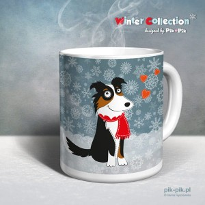 Kubek Border Collie- winter collection