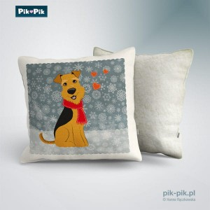 Poduszka Welsh Terrier Winter Collection   (1)