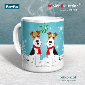 Kubek wire fox terrier Winter Time