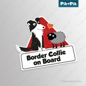 Naklejka Border Collie