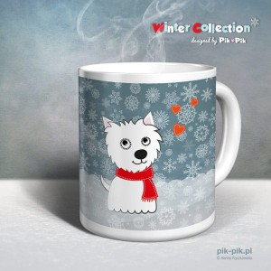 Kubek West Highland White Terrier Winter Collection (1)
