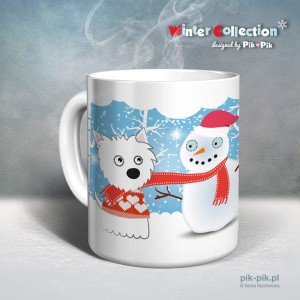 Kubek West Highland White Terrier Winter Collection