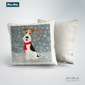 Poduszka Wire Fox Terrier-Winter Collection (1)
