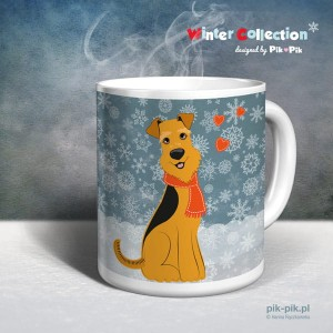 Kubek Airedale Terrier- Winter Collection