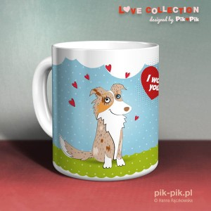 Kubek Border Collie- love collection