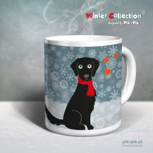 Kubek Flat Coated Retriever  Winter Collection