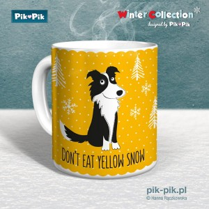 Kubek Border Collie Yellow Snow