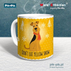 Kubek Airedale Terrier Yellow Snow