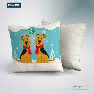 Poduszka Welsh Terrier Winter Time