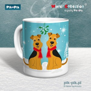 Kubek Welsh Terrier Winter Time