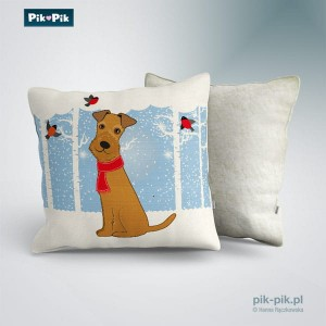 Poduszka Irish Terrier Winter Collection