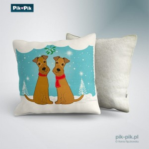Poduszka Irish Terrier Winter Time