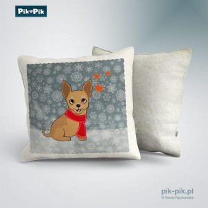 Poduszka chihuahua Winter Collection (1)