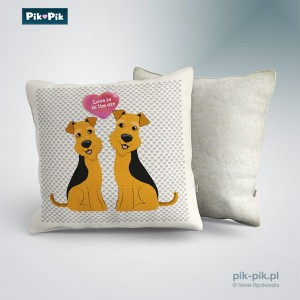 Poduszka Welsh Terrier Love Collection