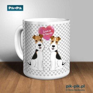 Kubek wire fox terrier Love Collection