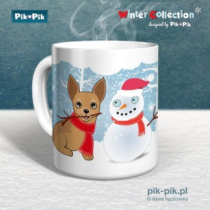 Kubek chihuahua Winter Collection