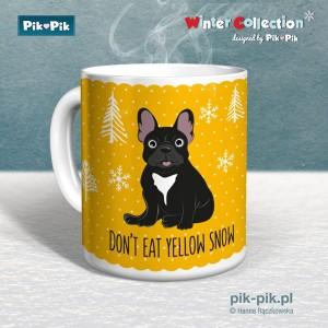 Kubek French Bulldog- Yellow snow