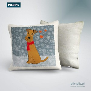 Poduszka Irish Terrier Winter Collection   (1)