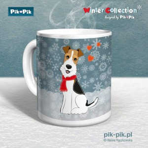Kubek wire fox terrier Winter Collection (1)